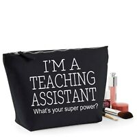 TA Teaching Assistant Thank You Gift Women's Make Up Accessory Bag Mothers Day