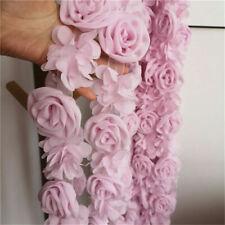 3D Rose Flower Chiffon Lace Trim Ribbon Sewing Fabric Clothes Hem 2.36' Width