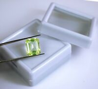 Peridot Loose Gemstone Pakistan 8.40 Ct Natural Emerald Cut VS Clarity Certified