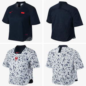 Nike France Womens Reversible Short-Sleeve Soccer Top FFF Jersey Size Medium NEW