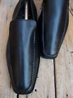 TO BOOT NEW YORK Mens Dress Shoes Black Leather Italian Moccasin Loafers Size 8M