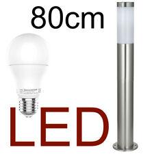 LED Standlampe 80cm Wegeleuchte Außenleuchte Standleuchte Gartenlampe Edelstahl
