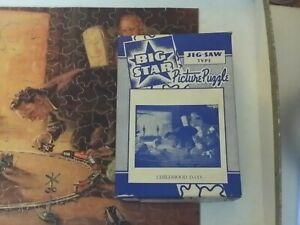 Vtg BIG STAR Puzzle CHILDHOOD DAYS - The Train set Hy Hintermeister 250+ pcs