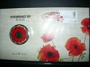 2011 $5 Remembrance Day 11/11/11 PNC Red Overprint Limited Edition