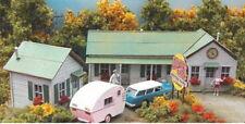 Bar Mills (HO-Scale) #872 COLLARD's CREEK Motor Park - Laser Cut Wooden Kit