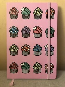 A5 CUPCAKE NOTE BOOK NOTEPAD JOURNAL DIARY KIDS PINK NOTES SCHOOL LINED NOTEBOOK