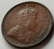 1908 Straits Settlements One Cent Large Coin #F2.