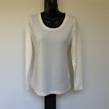'SUZANNEGRAE' BNWT SIZE 'S' CREAM LONG SLEEVE COTTON BLEND TOP