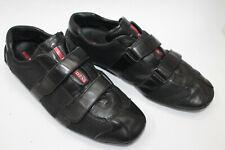 PRADA men shoes sz 9.5 Europe 43.5 black leather S8135