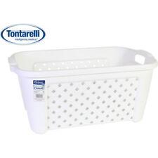 Cesta ropa rectangular 35l Arianna blanco / Tontarelli