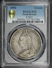 1892 Great Britain Silver Crown S-3921 PCGS F-15