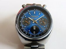 RARE VINTAGE CITIZEN BULLHEAD CHRONOGRAPH DAY/DATE WAYCH