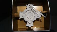 "Margaret Furlong Blooms Of Hope 1998 Bisque Floral Cross Ornament 3"""
