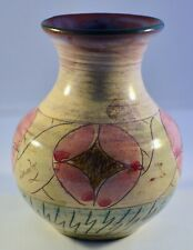 DECORATIVE STUDIO VASE 5 INCHES TALL EARTHENWARE SIGNED