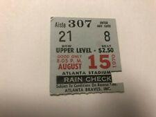 8/15/1970 NEW YORK METS @ ATLANTA BRAVES  TICKET SEAVER - CLENDENON HR