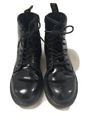 Doc Martens Kids Size 1 Boots Black Patent Leather
