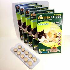 Pet Tablet VermaxP4000 for tick flea parasites remove dog cat 10 months (1 Pack)
