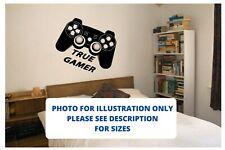 True Gamer Wall Art Boys Room Sticker Vinyl