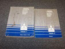 1990 Mitsubishi Mighty Max Pickup Truck Service Repair Manual Book Set 2.4L