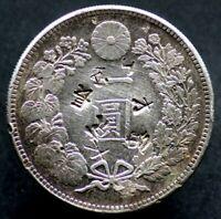 1 YEN 1894 JAPON / JAPAN (argent / silver) Meiji - Contremarques / countermarks