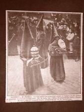 Barcellona nel 1922 Venerdì Santo Processione della Buona Morte Spagna