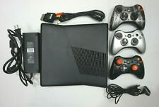 Microsoft XBox 360 S slim 250GB with 42 GAMES 3 Controllers model 1439 console