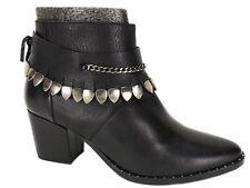 Freda Salvador Women's Comet Mid-Heel Booties Black Leather Size 9.5 M