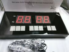Active living red led 16x7.5 inch over sized clock