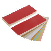 50 Sheet 10 Colors 6x2'' Metallic Pearl Shimmer Paper Cardstock Double Sided