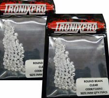 2x Tronixpro Round Beads Clear 3mm For Rigs Terminal Tackle 75pcs Sea Fishing