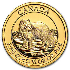 2014 Canada 1/4 oz Gold $10 Arctic Fox BU - SKU#95743