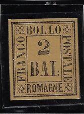 ASI romagne 1859 2 Bai giallo paglierino Catalogo 3 nuovo certificato Bolaffi