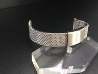 """Bracelet Milanaise / Mesh Tresse Montre Diver-Racing 18MM Acier """" New Old Stock"""