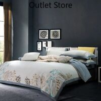 Brushed Cotton  Duvet Cover Bed Sheet  Chic Embroidery Bedding Set Size Warm