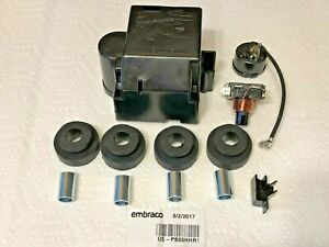 Embraco Compressor EM65HHR, Service Kit, Relay, Overload, Cover, Grommets, Feet