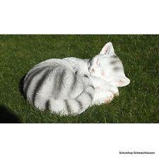 Gartenfigur Katze schlafend 40cm Z2297 Haus Garten DEKO Lebensecht Figur