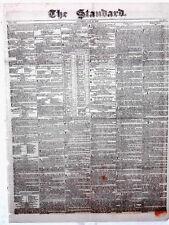 Newspaper Old & Authentic ! San Antonio Texas ! The Alamo Falls ! Free COA 1836