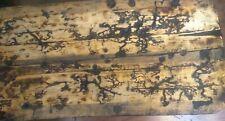 Handmade Pine Coffee Table Fractal Pyrography