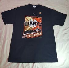NEW SF Giants Majestic 2010 World Series Champions Celebration Tshirt Size Large