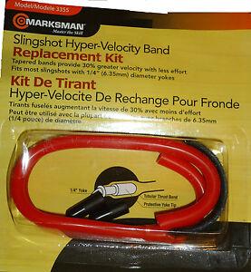 "Marksman Slingshot Hyper Velocity Replacement Tapered Band Kit 1/4"" Yoke 3355"