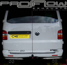 VW T5 TRANSPORTER STAINLESS STEEL CUSTOM EXHAUST BACK BOX DUAL TWIN TAIL PIPE