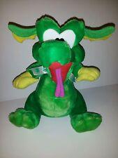 "Large Green 12"" Lucky Dragon Shamrock Plush Soft Toy Stuffed Animal Good Stuff"