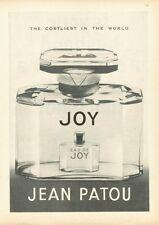 """1961 Jean Patou """"JOY"""" French Perfume Vintage Bottle PRINT AD"""