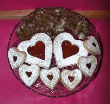 FILLED LINZER TART AND CHOCOLATE CRINCLE COOKIES FOR VALENTINE'S DAY HOME MADE