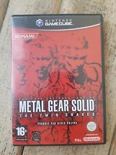 RARE POUR NINTENDO GAMECUBE JEU METAL GEAR SOLID THE TWIN SNAKES DISQUES NEUF !