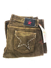 Women's PEOPLE'S LIBERATION Faded Brown Corduroy Flared Boot-Cut Jeans SZ: 26-32