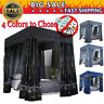 """Windproof Lightproof Anti-Glare"" 4 Four Corner Bed Curtain Canopy Mosquito Net"