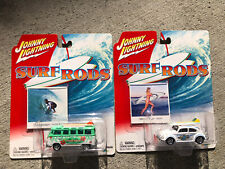 JOHNNY LIGHTNING SURF RODS-1966 VOLKSWAGEN SAMBA BUS & BEETLE DIECAST