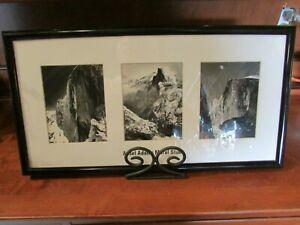 """ANSEL ADAMS Mural Study 3 Piece Framed Matted Wall Art Print 21"""" X 11"""""""