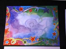 BOX of 12 Graphic Watercolor  STAR Best Wishes PHOTO Christmas Cards w Envelopes